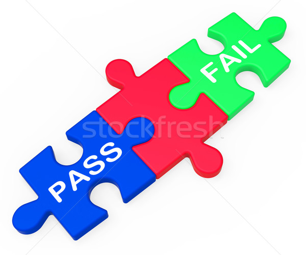 Pass Fail Shows Exam Or Test Results Stock photo © stuartmiles