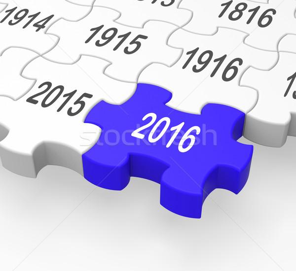 2016 Puzzle Piece Shows Progression Stock photo © stuartmiles