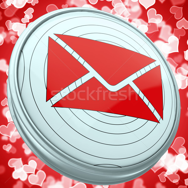 Stock photo: Email Envelope Shows World Contact Message Icon