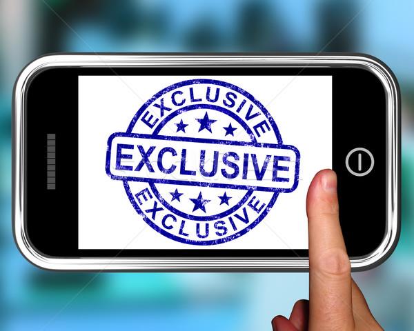 эксклюзивный смартфон редкий пункт телефон веб Сток-фото © stuartmiles