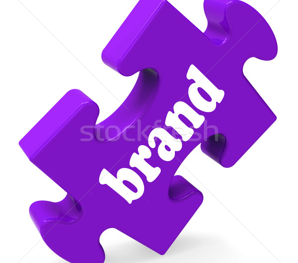 Brand Jigsaw Shows Business Trademark Or Product Label Stock photo © stuartmiles