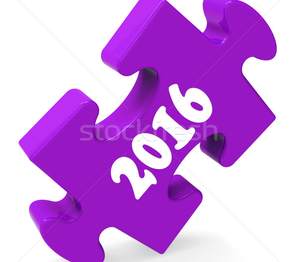 Two Thousand Sixteen On Puzzle Shows Year 2016 Stock photo © stuartmiles
