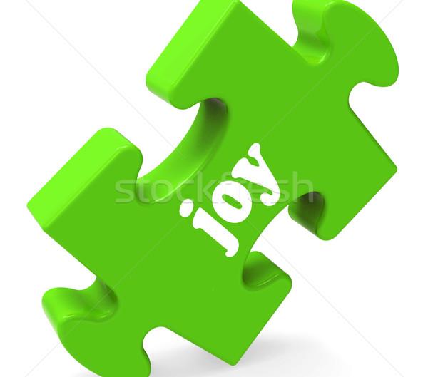 Joy Puzzle Shows Cheerful Joyful Happy And Enjoy Stock photo © stuartmiles