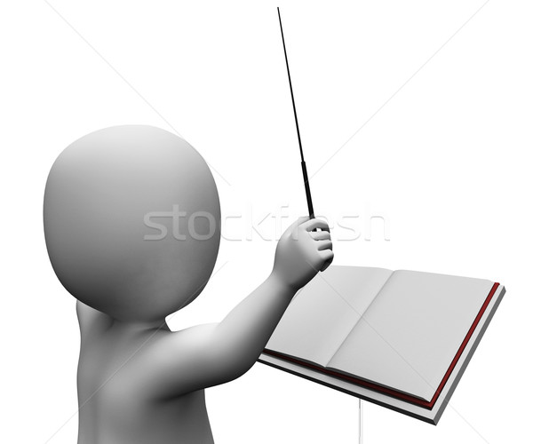 Stockfoto: Musical · muzikant · orkest · directeur · direct · tonen