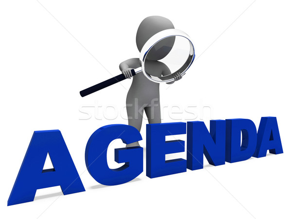 Agenda Character Means Schedule Program Or Outline Stock photo © stuartmiles