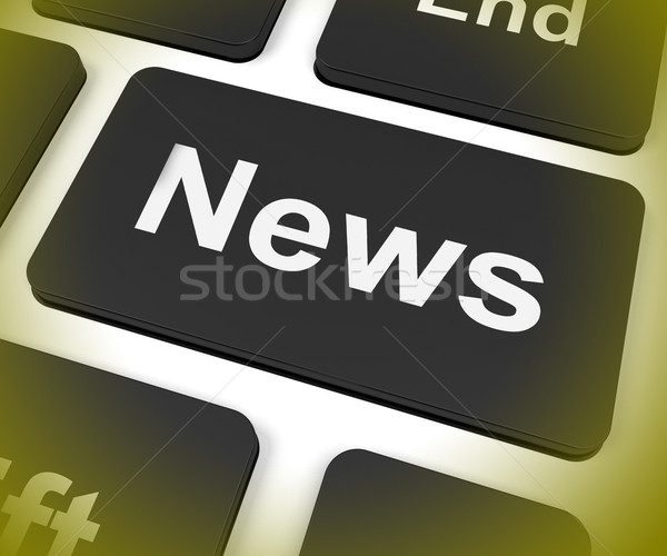 News Key Shows Newsletter Broadcast Online Stock photo © stuartmiles