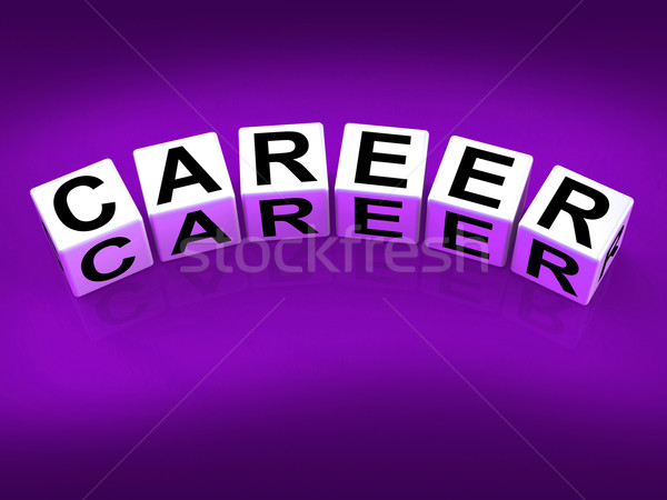 Career Blocks Refer to Professional and Work Life Stock photo © stuartmiles