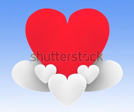 сердце облака красивой отношения страстный смысл Сток-фото © stuartmiles
