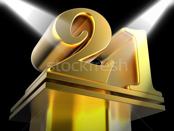 Złoty dwadzieścia jeden rozrywki znaczenie Zdjęcia stock © stuartmiles