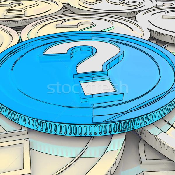 Fragezeichen Münze Vermutung Finanzierung Geld Stock foto © stuartmiles