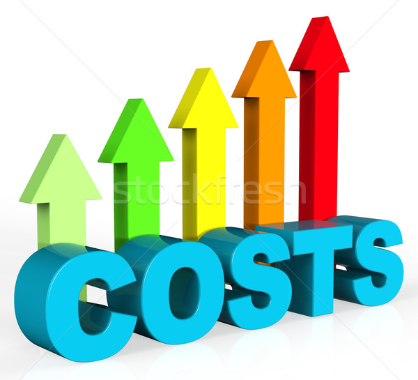 Increase Costs Shows Finances Outlay And Rise Stock photo © stuartmiles