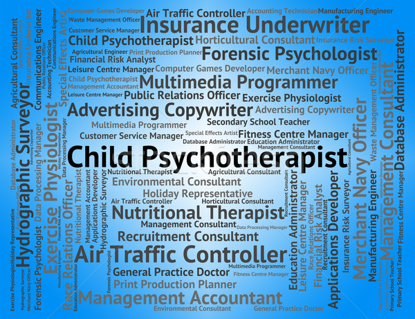 Child Psychotherapist Indicates Personality Disorder And Childs Stock photo © stuartmiles