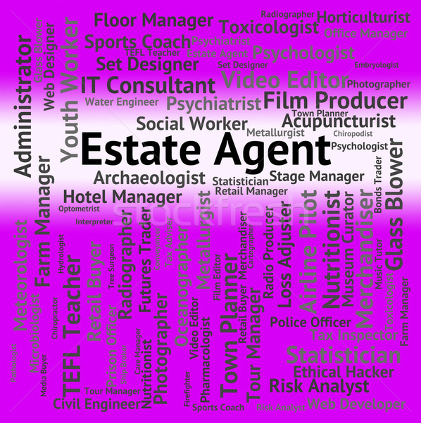 Estate Agent Represents Word Jobs And Work Stock photo © stuartmiles