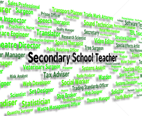 Secondary School Teacher Shows Senior Schools And Career Stock photo © stuartmiles
