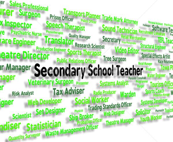 Escuela secundaria maestro altos escuelas carrera Trabajo Foto stock © stuartmiles