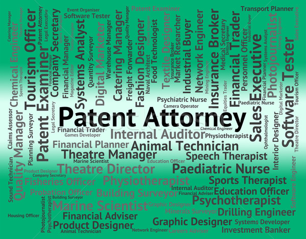 Patent Attorney Shows Performing Right And Da Stock photo © stuartmiles