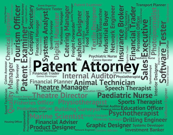 Patent prawnik prawnych słowo Zdjęcia stock © stuartmiles