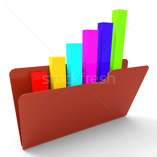 File Report Shows Business Graph And Administration Stock photo © stuartmiles