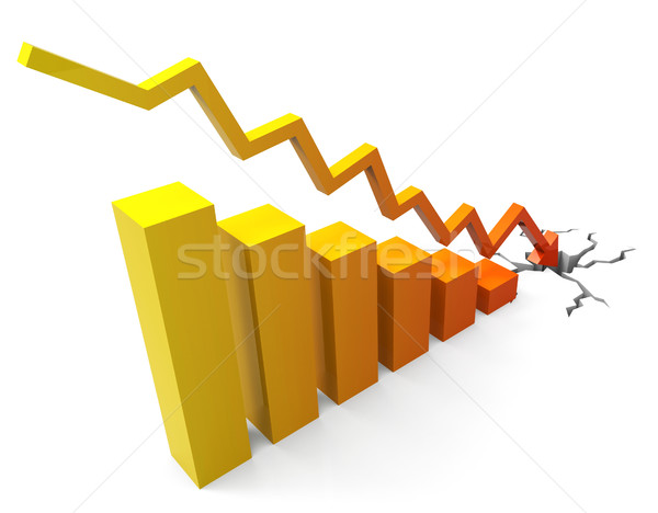 Business Crash Represents Progress Report And Commerce Stock photo © stuartmiles