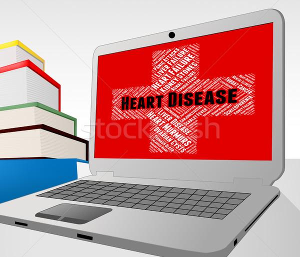 Hartziekte ziek gezondheid slechte tonen aanval Stockfoto © stuartmiles