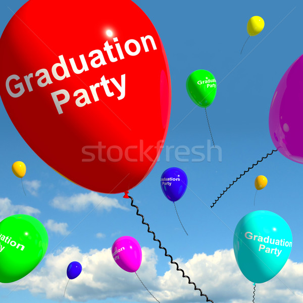 Graduation Balloons Showing School College Or University Graduat Stock photo © stuartmiles