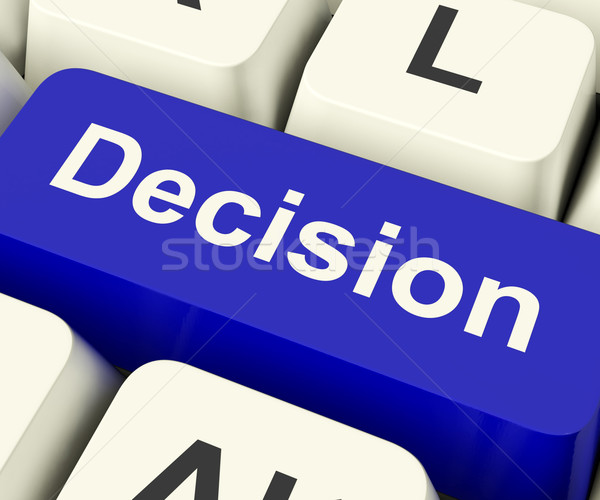 Decision Computer Key Representing Uncertainty And Making Decisi Stock photo © stuartmiles