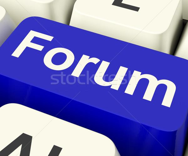 Forum Key For Social Media Community Or Information Stock photo © stuartmiles