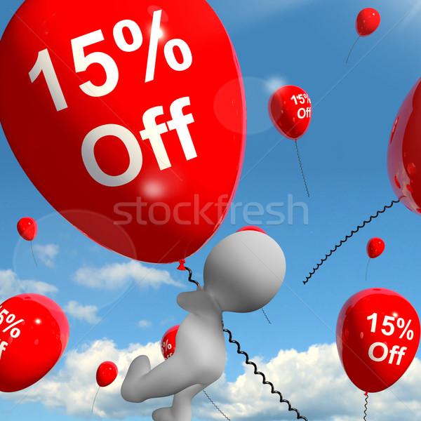 Balão 15 desconto quinze Foto stock © stuartmiles