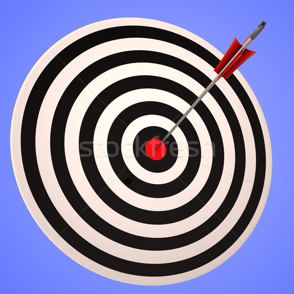 Ojo objetivo preciso ganar estratégico objetivo Foto stock © stuartmiles