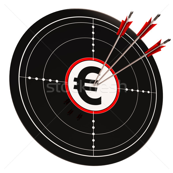 Euro Ziel Reichtum Währung Geld Stock foto © stuartmiles