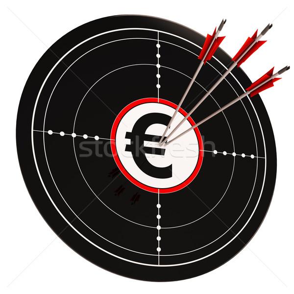 евро целевой богатство валюта деньги Сток-фото © stuartmiles