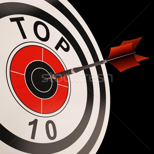 Topo dez alvo o melhor selecionado resultar Foto stock © stuartmiles