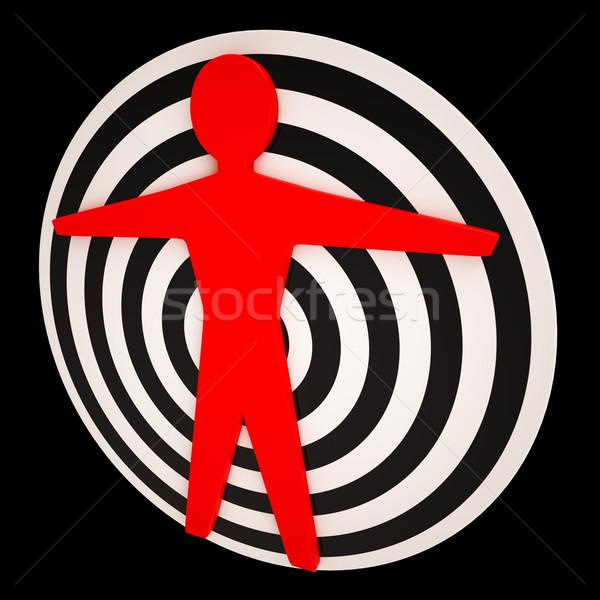 Human Target Shows Focus Precise Perfection Stock photo © stuartmiles