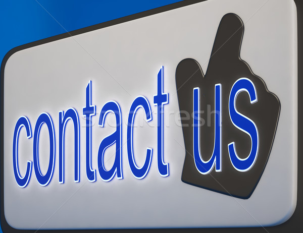 Contact Us Button Shows Help And Guidance Stock photo © stuartmiles