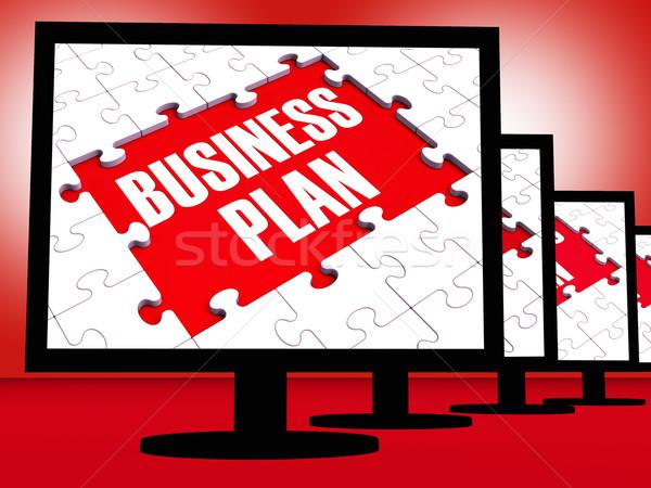 Foto stock: Negócio · plano · corporativo · gestão · visão
