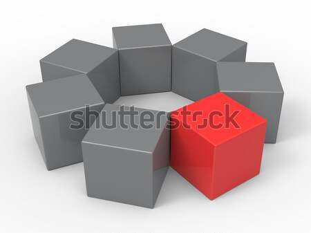 Different Block Shows Standing Out Stock photo © stuartmiles