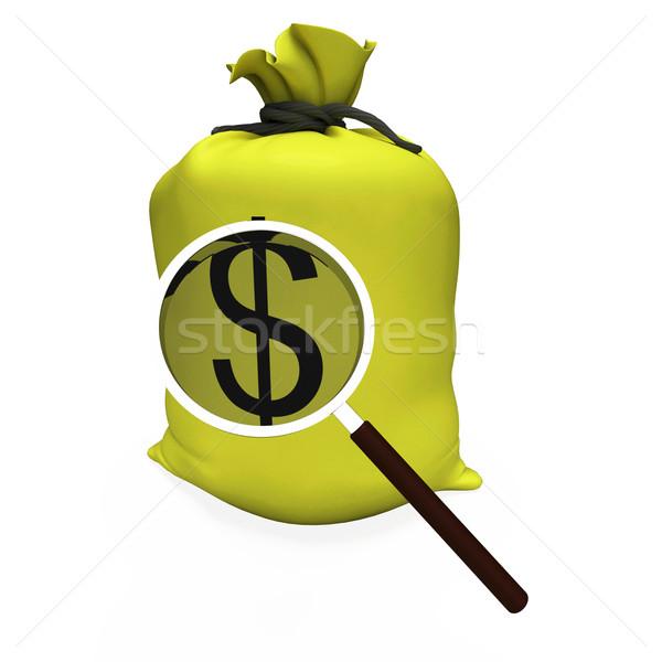 Stok fotoğraf: Dolar · amerikan · para · usd · nakit