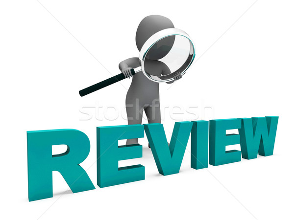 Review Character Shows Assess Reviewing Evaluate And Reviews Stock photo © stuartmiles