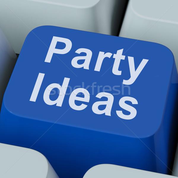 Fête idées clé célébration planification Photo stock © stuartmiles
