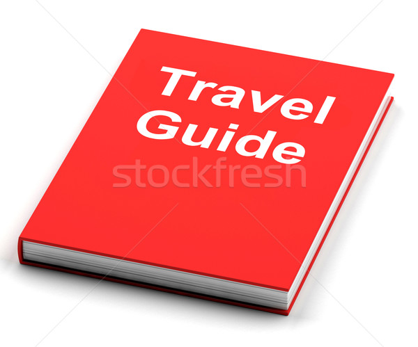 Travel Guide Book Shows Information About Travels Stock photo © stuartmiles