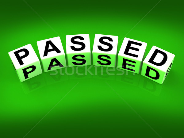 Passed Blocks Refer to Satisfied Verified and Excellent Assuranc Stock photo © stuartmiles