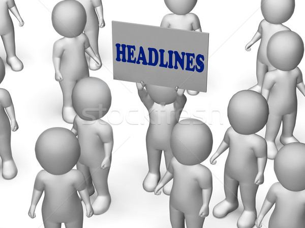 Headlines Board Character Means Urgent Publication Or Breaking N Stock photo © stuartmiles