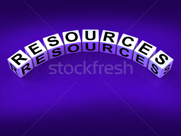 Resources Blocks Mean Collateral Assets and Savings Stock photo © stuartmiles