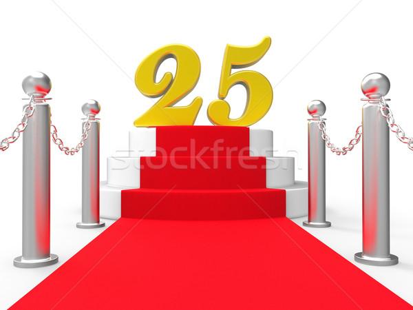 Venti cinque tappeto rosso anniversario Foto d'archivio © stuartmiles