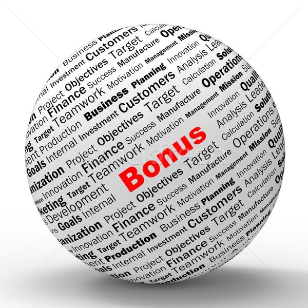 Bonus Sphere Definition Shows Financial Reward Or Benefit Stock photo © stuartmiles