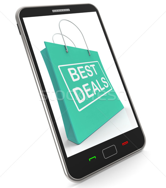 Best Deals On Shopping Bags Shows Bargains Sale And Save Stock photo © stuartmiles