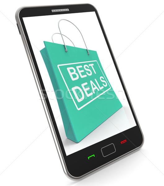 Legjobb akciók bevásárlótáskák vásár mentés mutat Stock fotó © stuartmiles
