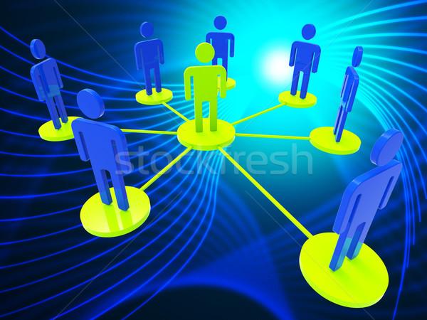 Stock fotó: Hálózat · emberek · globális · kommunikáció · számítógép · jelentés · pc