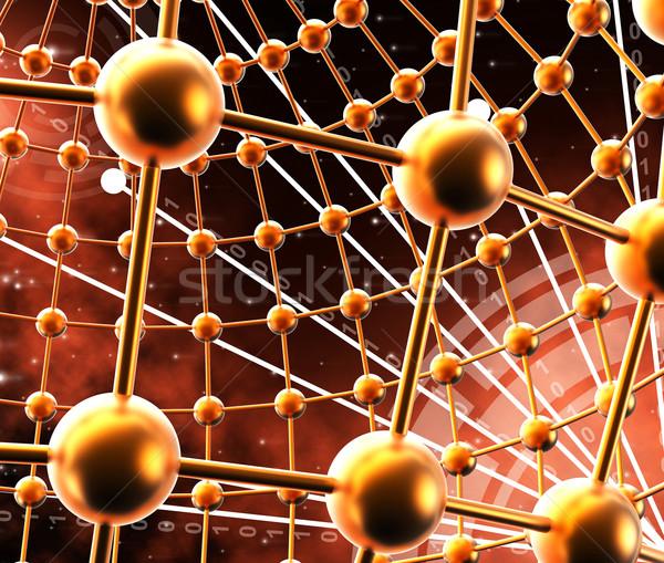 Gömbök hálózat globális kommunikáció hátterek jelentés kommunikáció Stock fotó © stuartmiles