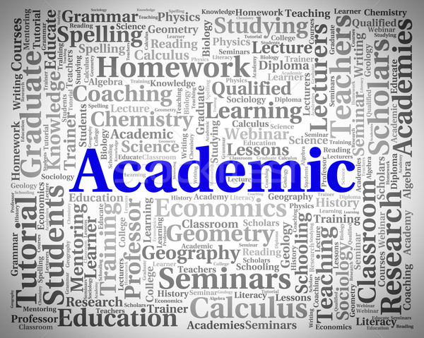 Academic Word Represents Military Academy And Academies Stock photo © stuartmiles